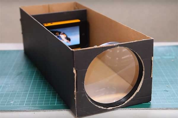 reuse shoebox smartphone projector diy project watch creative video technology