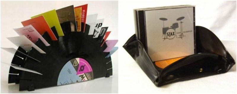 recycling vinyl record cd business card holders diy useful creative idea