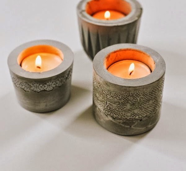 concrete repurposed projects diy candle holders creative centerpieces