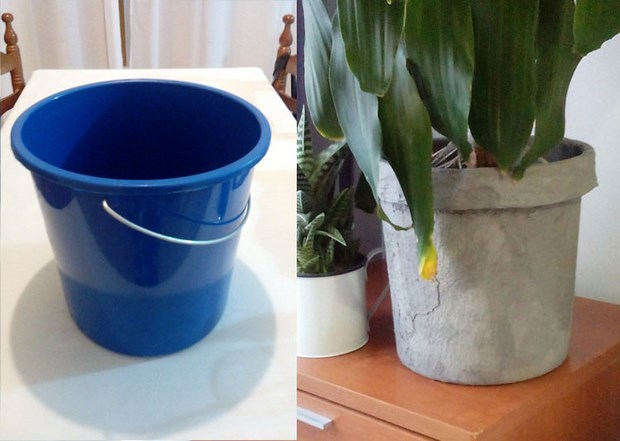 concrete projects diy flower pot upcycled idea
