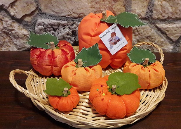 stuffed fabric pumpkin crafts diy orange basket