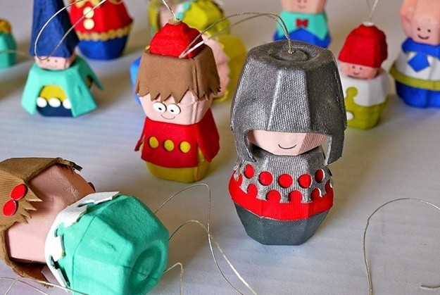 egg carton kids crafts dolls ideas reuse