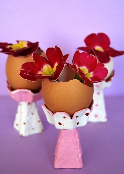 upcycled egg shell vases egg carton cup homemade craft ideas reuse flowers diy