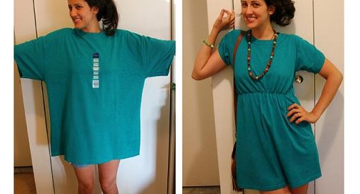 upcycled T-shirt ideas easy diy dress decorate