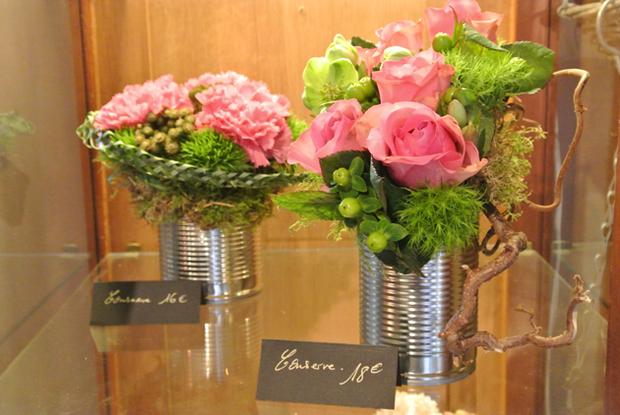 reused mini tin can flower vases diy ideas