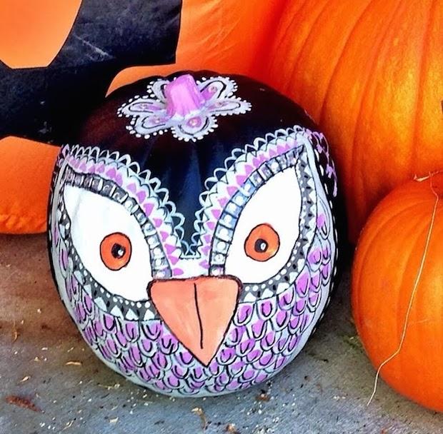 art design halloween pumpkin coloured bird kids halloween craft