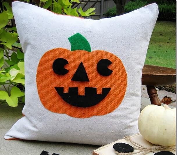 homemade diy halloween pillows decoration pumpkin covers redesign ideas