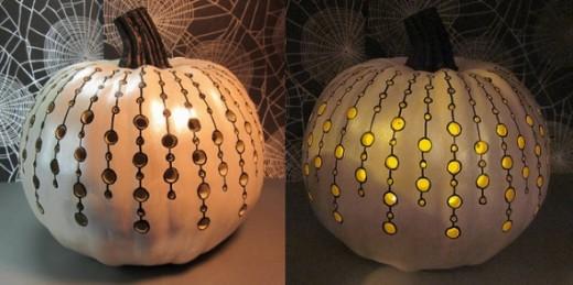 diy halloween pumpkin carving pattern idea party spider net craft spooky lantern