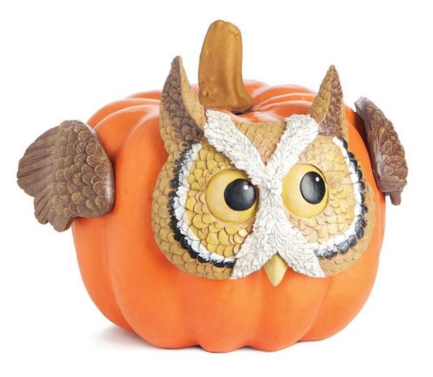 halloween diy handmade pumpkin cute owl redesigned art upcycling pumpkin idea