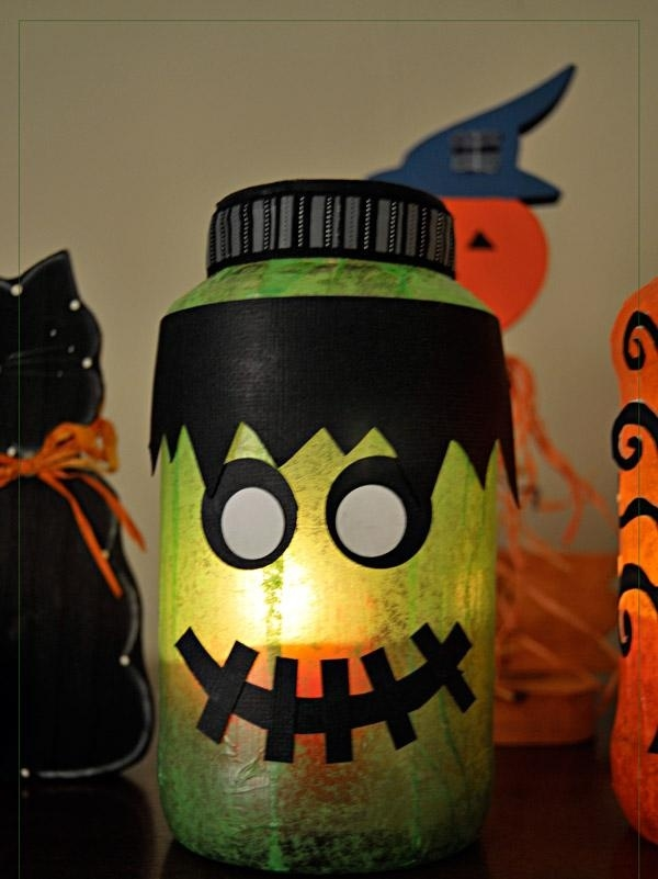 Homemade Halloween Decor 13 Empty Milk Jug Luminaries
