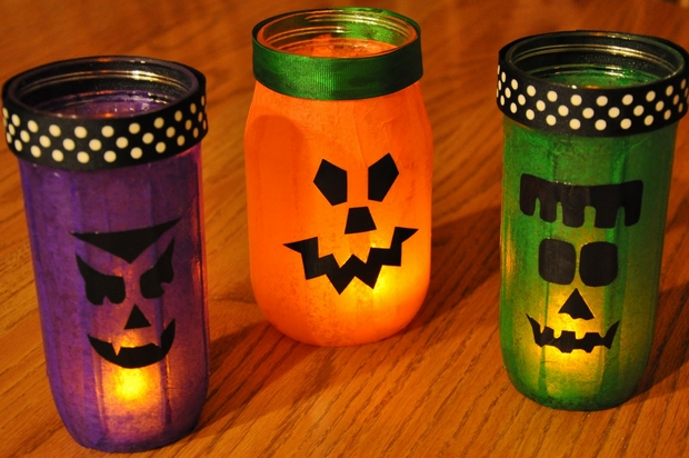 homemade halloween craft ideas decor 13 empty milk jug luminaries 4702