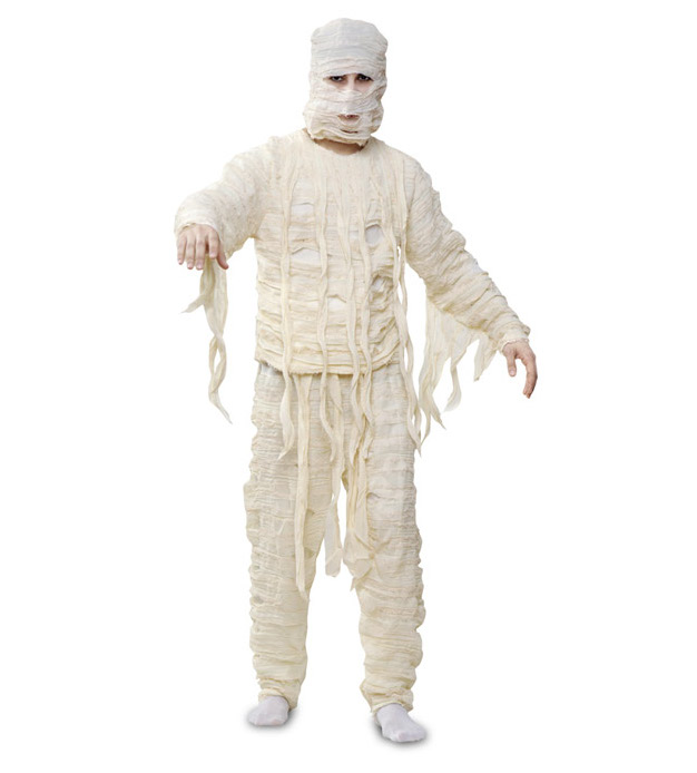 original halloween costume mummy diy recycling old bandage idea for men