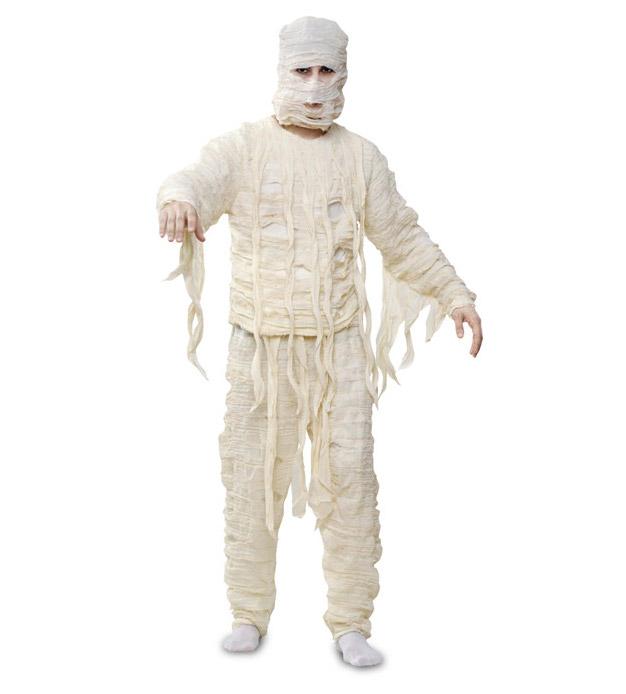 original halloween costume mummy diy recycling old bandage idea for men