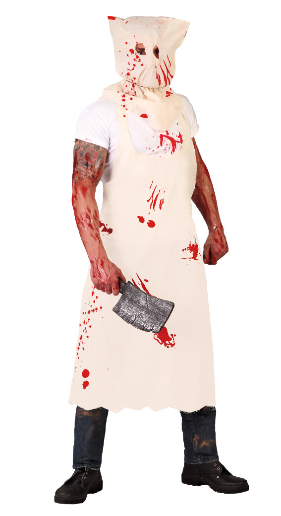 scary butcher homemade halloween diy costume for adults original reusing old clothes chopper