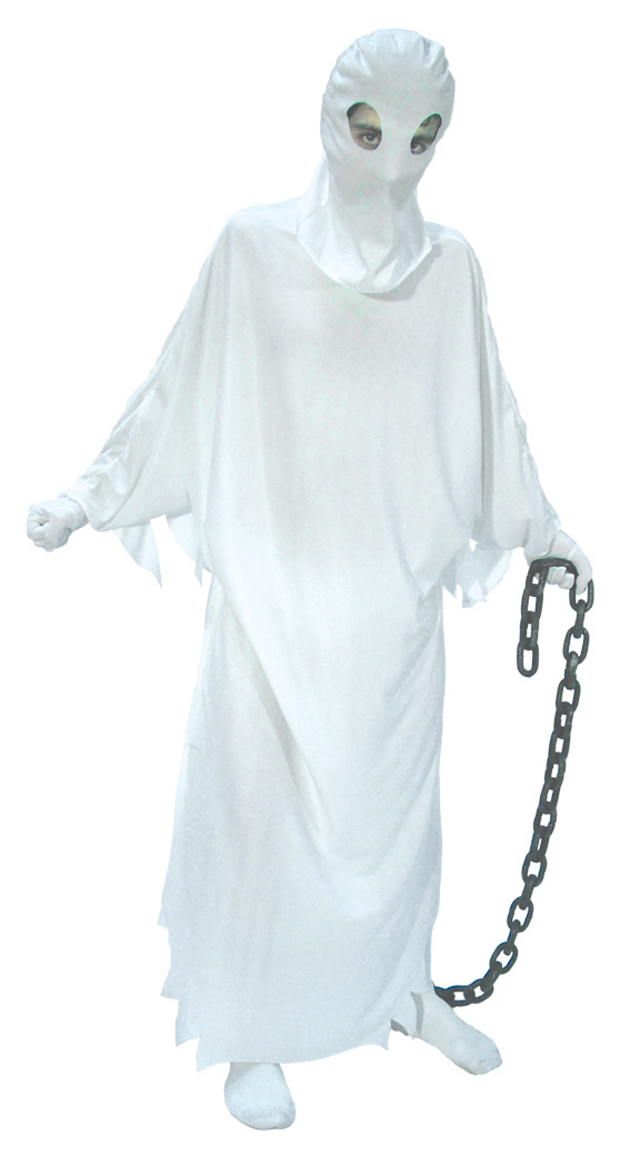 scary ghost halloween costumes upcycled old bed sheets metal chain idea