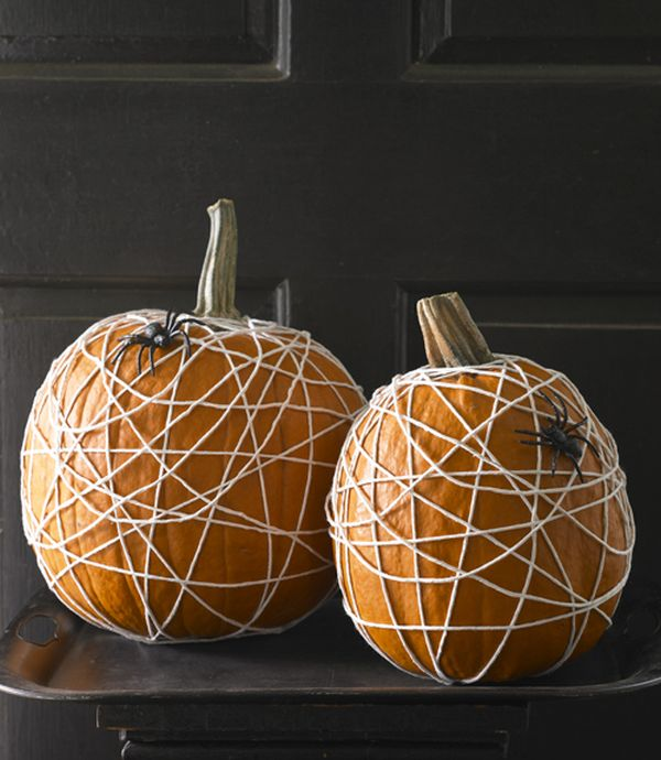 tangled halloween pumpkin ideas spider decorative diy upcycling tutorial