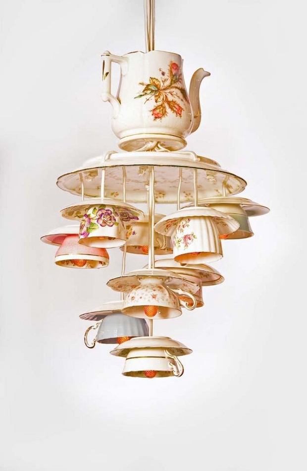 reuse teacups creative porcelain teaware lamp ideas