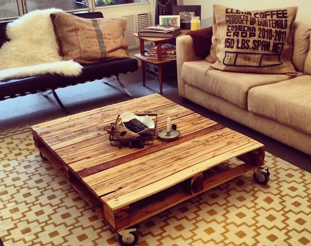 easy vintage pallet coffee table diy idea stylish sofa cushions