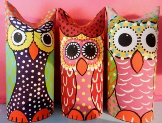 kids crafts for thanksgiving owl toilet paper rolls ideas diy