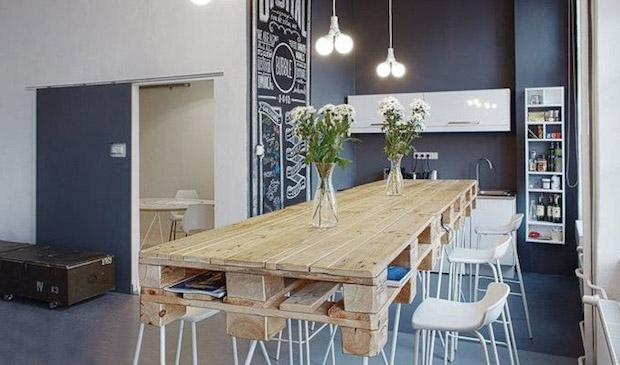 pallet table and chairs flower vases kitchen rustic design pallet dining table