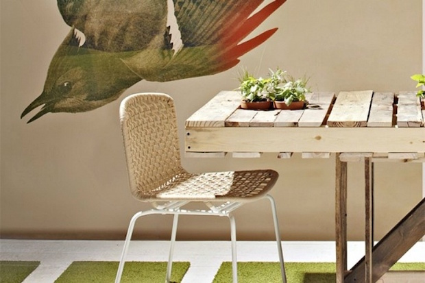 reuse pallet dining room table flowers diy pots bird wallpapers