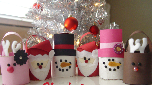 christmas crafts for kids recycle old toilet paper roll tree ornaments decoration ideas
