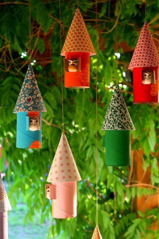 christmas crafts for kids reuse toilet paper rolls owl bird house tree ornaments decorating ideas