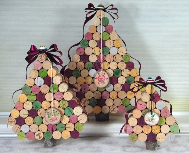christmas crafts diy tree ornaments used wine corks interior decorating ideas