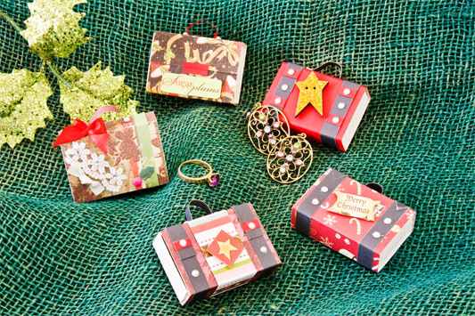 christmas tree ornamets from reused matchboxes handmade craft ideas