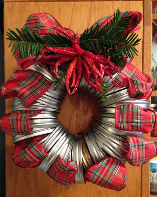 diy christmas door decoration jar lid wreath