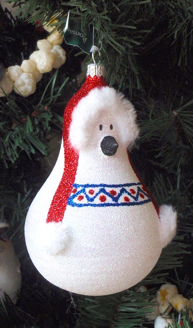 glitter old bulb polar bear christmas decoratingideas for xmas tree