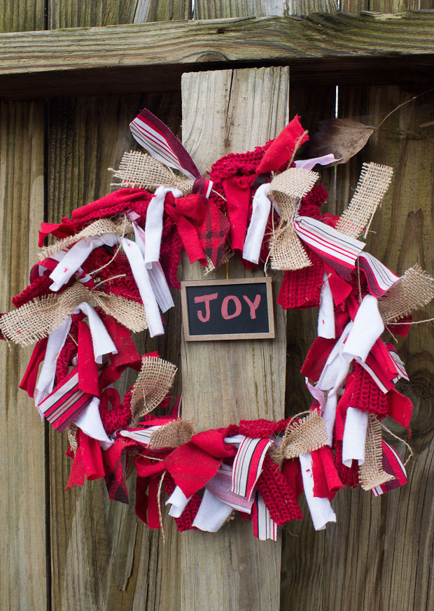 how to make christmas door wreaths recycling rag colourful ribbons