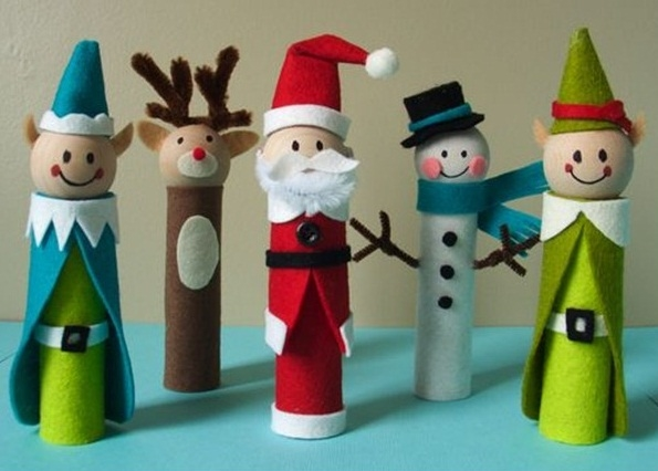 christmas crafts for kids diy christmas singers snowman deer from reused toilet paper rolls tree decorating ideas