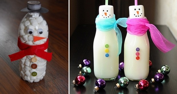 handmade christmas crafts 15 ways to recycle glass bottles - Recycled Christmas Decor
