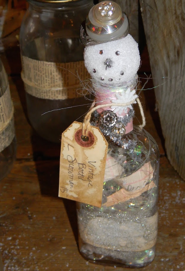 handmade christmas crafts vintage snowman bottle craft diy easy decorating ideas