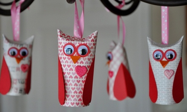 valentine's day craft for kids from empty toilet paper tubes owl decorating ideas