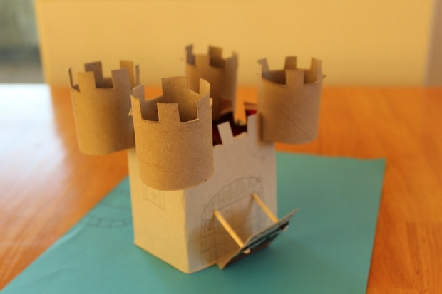 crafts for kids from reused toilet paper rolls handmade king castle with towers