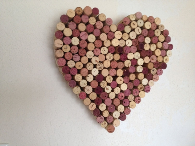 creative valentines day decor heart shaped wine corks craft amazing recycled decoration idea