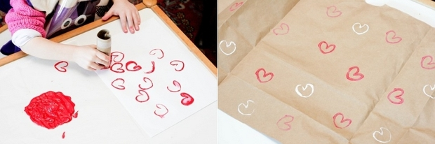 easy crafts for kids from toilet paper tubes valentines love hearts stamps for decorating wrapping paper ideas