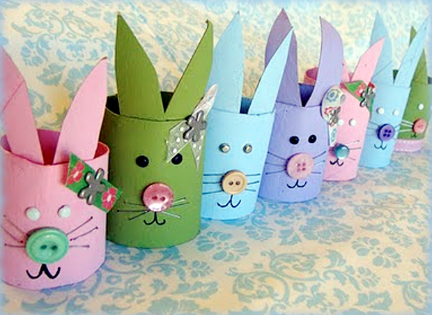 easy crafts for kids valentine's day toilet paper rabbits decor ideas