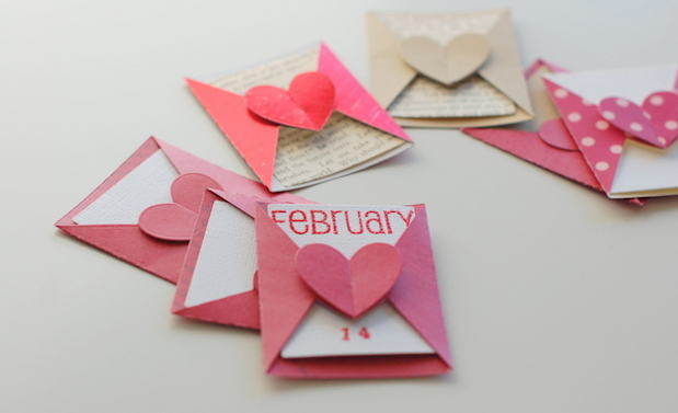 little love notes for valentines day decoration with decorative paper hearts