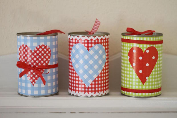 reused tin can homemade valentines day gift ideas for her