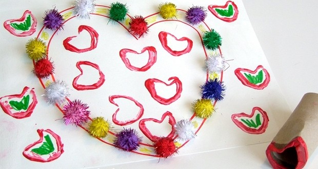 Valentine 39 s day crafts for kids 17 easy toilet paper for Creative craft ideas with paper
