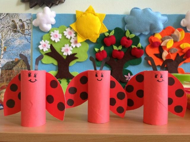 valentine's day crafts for kids reused toilet paper ladybugs creative decorating ideas