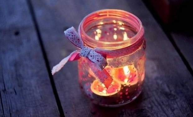 valentines day candle holder diy creative reused glass jar decorating ideas
