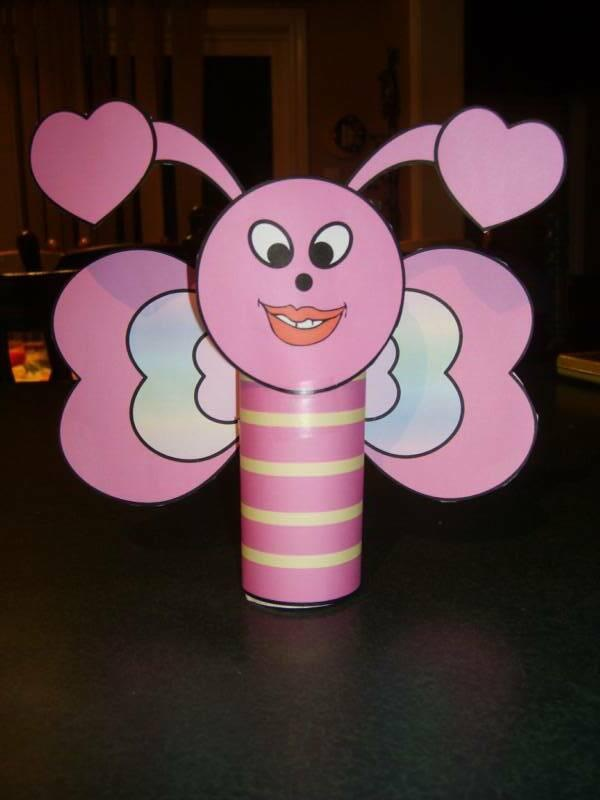 valentines day repurposed toilet paper roll bee craft easy diy project