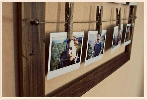 diy easy photo holder made of reused clothespins home decor diy idea