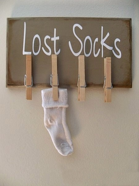 lost socks wall diy clothespin crafts holder indoor decor organiser