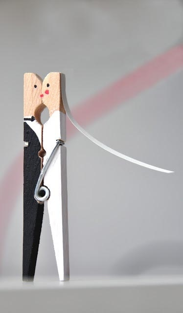 newlywed clothespin crafts repurposed idea for wedding gift