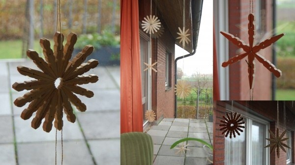 outdoor christmas clothespin cheap decoration creative upcycling ideas